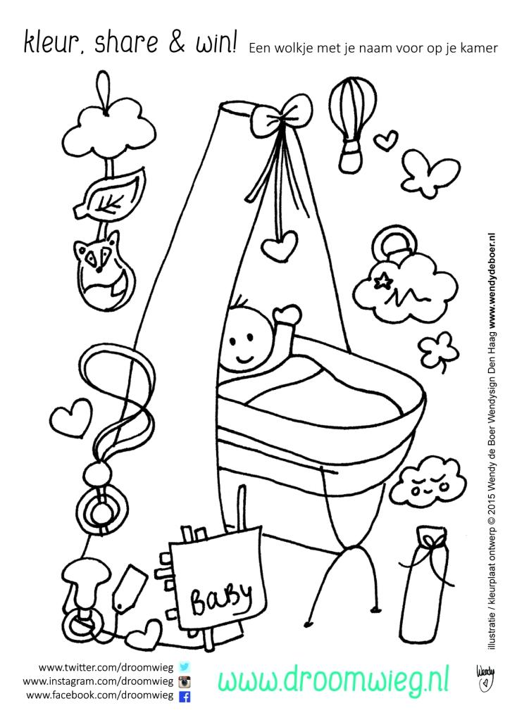 Kleurplaten Baby Wieg.Do Kleurplaat Droomwieg Front