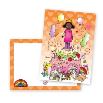 postkaart feest meisje