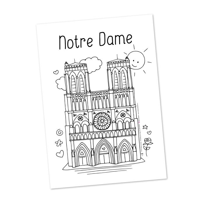 Notre Dame parijs colouringpage Wendy de Boer Wendysign Den Haag NL
