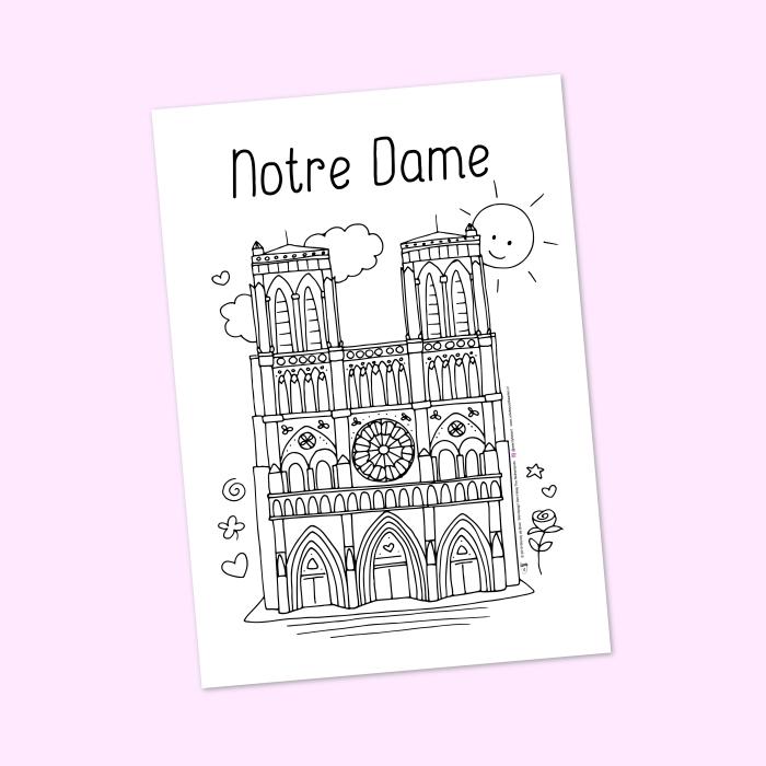 Notre Dame parijs page colouriage Wendy de Boer Wendysign Den Haag NL.jpg