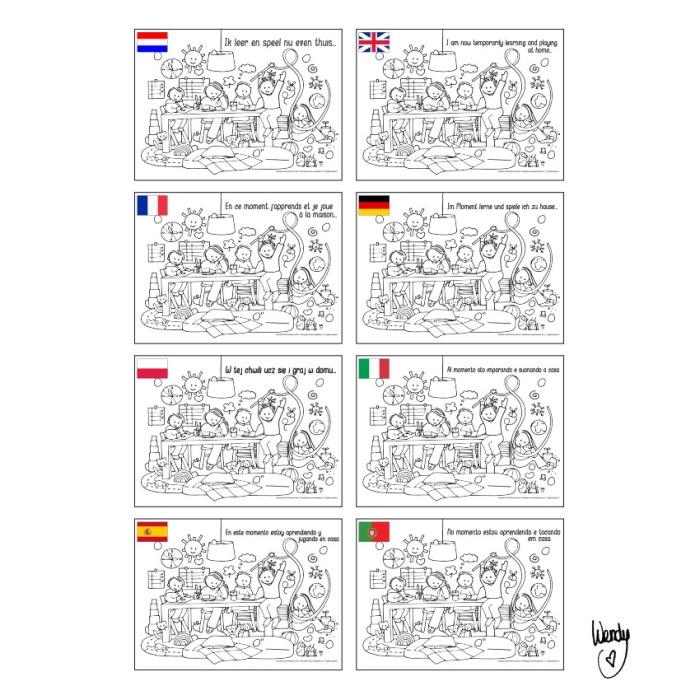 kleurplaten 8 talen