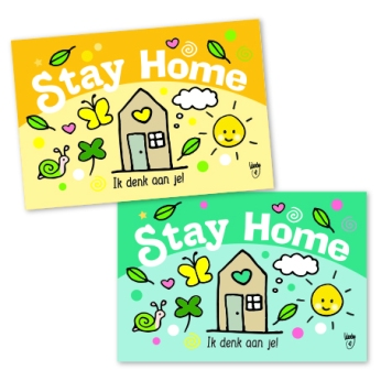preview mini kaartjes A7 stay home Wendy de Boer