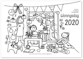 Woningsdag kleurplaat 2020 Wendy de Boer Den Haag